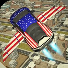 Free Flying Racing Car Driving